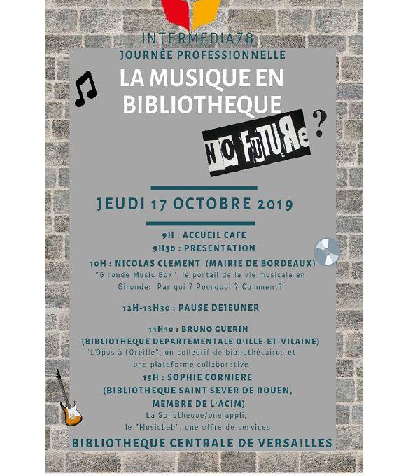 Retours Sur La Journée D'études «la Musique En Bibliothèque, No Future ?»