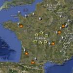 Carte de France du CA, des Coopérateurs et des Groupes régionaux