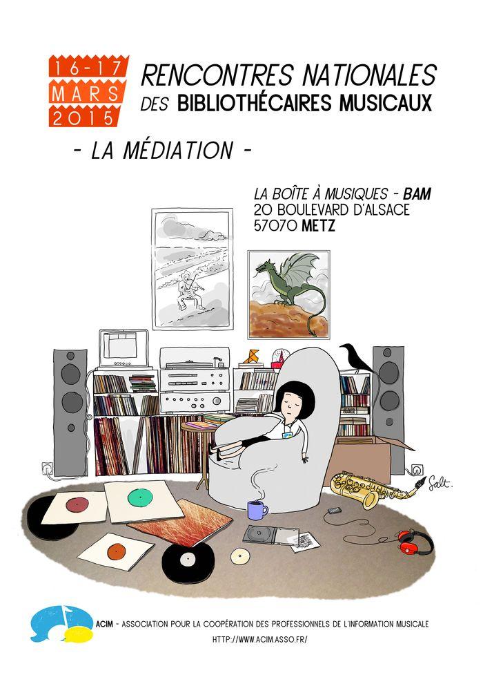 Rencontres Nationales des Bibliothécaires Musicaux 2015 - Dessin de Melle Salt